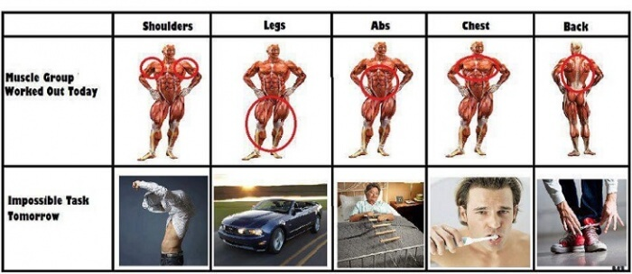 Muscle Group Worked Out Today - Impossible Task Tomorrow Legs Ab