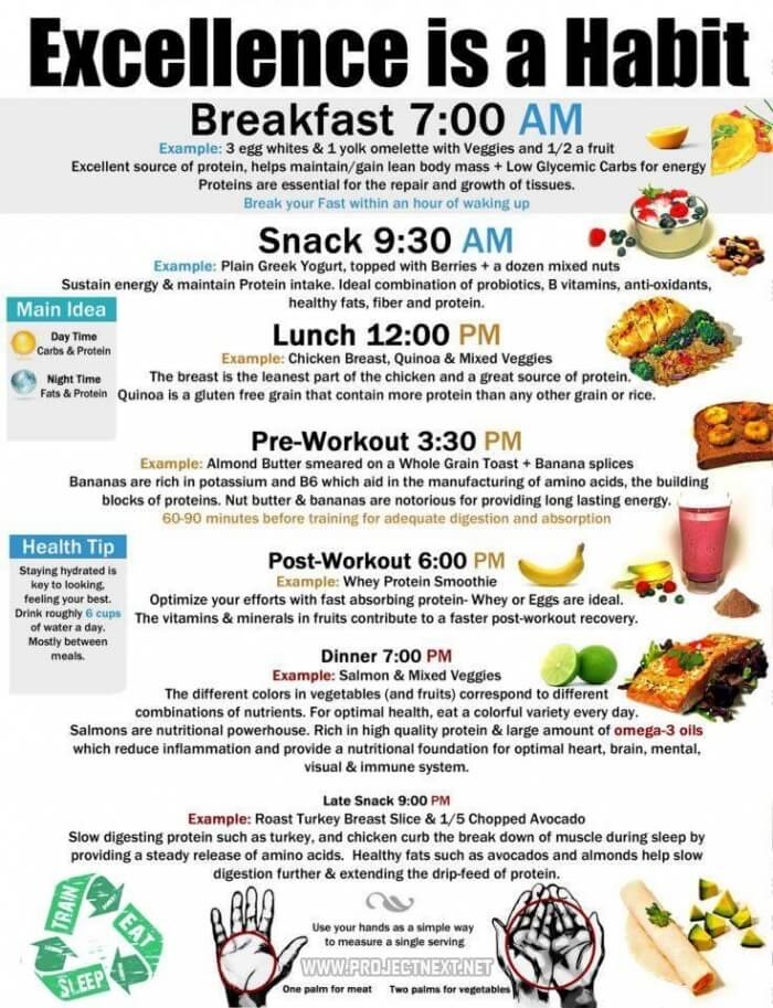 Execellence Is A Habit - Healthy Fitness Recipe Breakfast Snack
