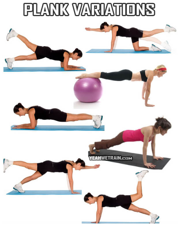 7 Plank Variations - Healthy Ab Exercises Fitness Sixpack