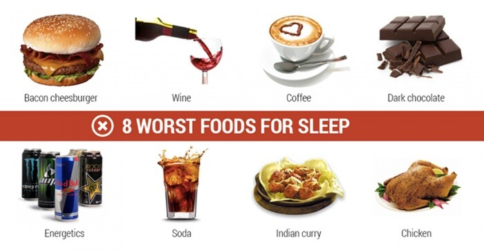 8 Worst Foods For Sleep - Soda Bacon Healthy Fitness Workout Abs