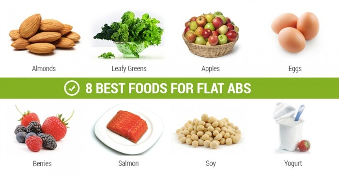8 Best Foods For Flat Abs - Apples Eggs Healthy Fitness Workout