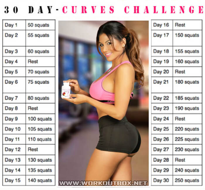30 Day Curves Challenge - Healthy Fitness Training Sixpack Butt