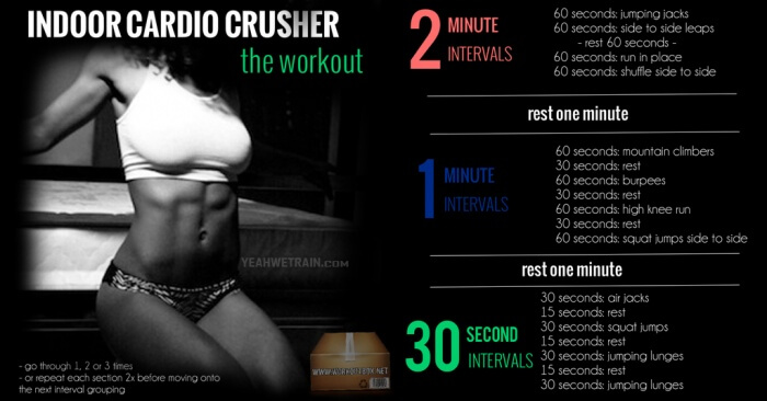 Indoor Cardio Crusher: The Workout - Healthy Fitness Training Ab