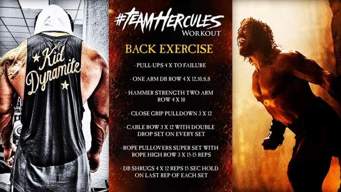 Team Hercules Workout: Back Exercise - Dwayne The Rock Johnson