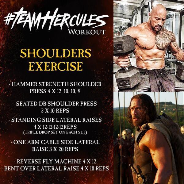 Team Hercules Workout: Shoulders Exercise - Dwayne Rock Johnson