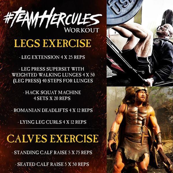 Team Hercules Workout: Legs & Calves Exercise - Dwayne Johnson