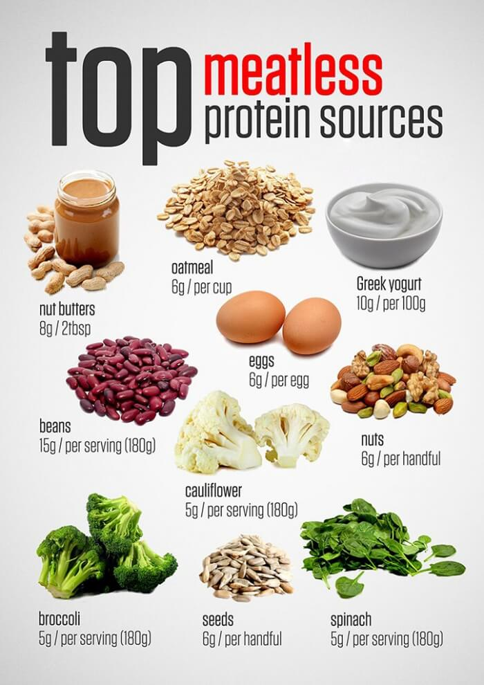 Top Meatless Protein Sources - Healthy Veggie Food Tips Egg Nut