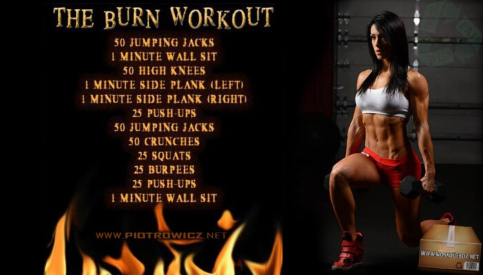 The Burn Workout - Healthy Fat Killer Training Core Sixpack Butt