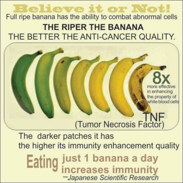 The Ripper The Banana The Better The Anti-Cancer Quality! Eating