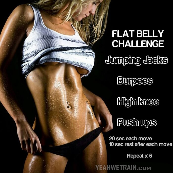 Flat Belly Challenge - Fitness Workout For Amazing Sixpack Abs
