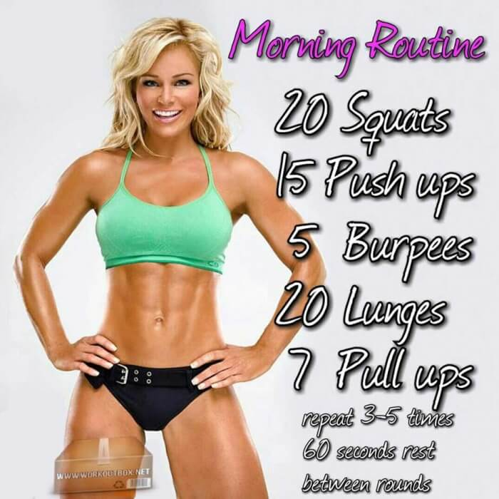 Morning Routine - Be Fit Train Hard Fitness Training Stronger