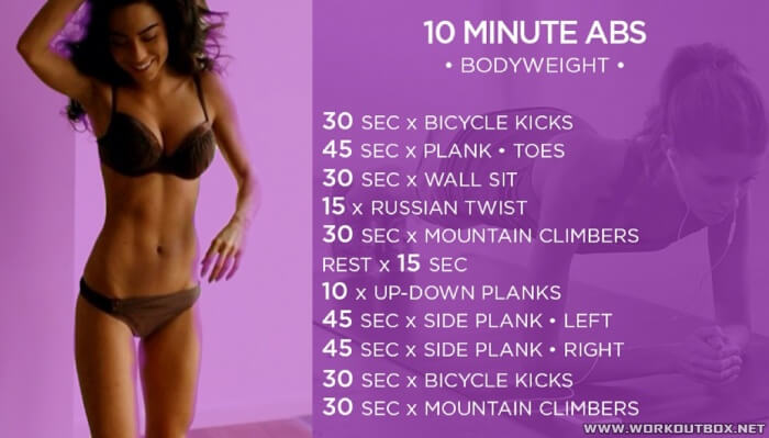 10 Minute Abs Training! Bodyweight Workout Healthy Fitness Core