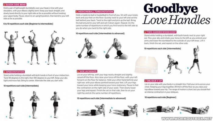 Goodbye Love Handles - Sexy Body Workout Arms Sixpack Core Abs