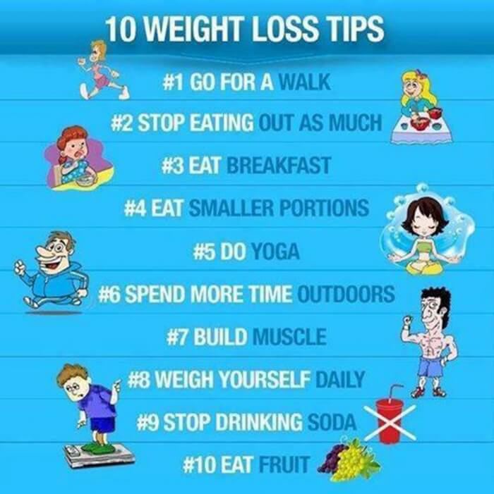 10 Weight Loss Tips - Best Tricks To Kill Fat Healthy Fitness Ab