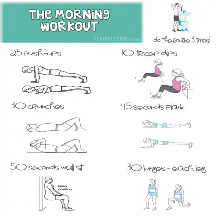 the morning workout daily fitness training routines to be fit