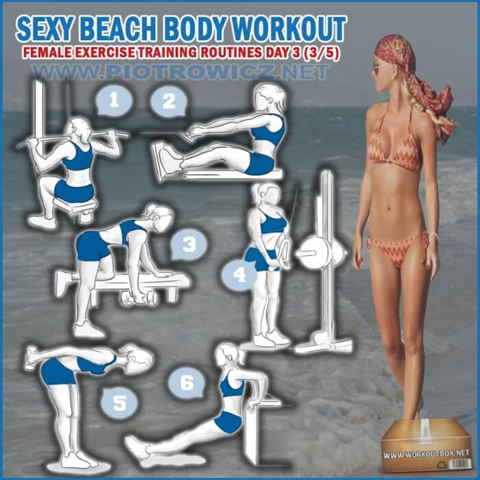 Sexy Beach Body Workout Day 3 - Female Exercise Training Routine