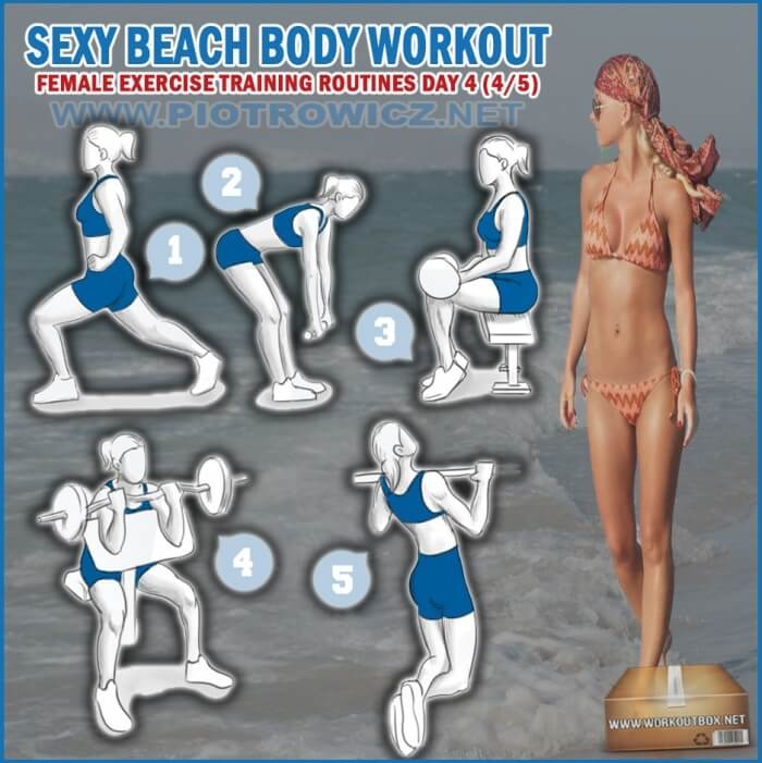 Sexy Beach Body Workout Day 4 - Female Exercise Training Routine