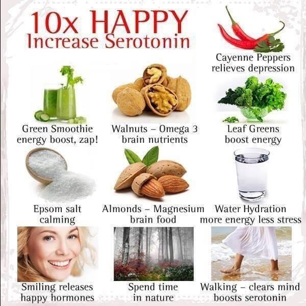 10 Happy Increase Serotonin - Healthy Fitness Tip Tricks Recipes