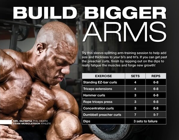 Build Bigger Arms - Mr Olympia Phil Heath Athlete Fitness Tricks