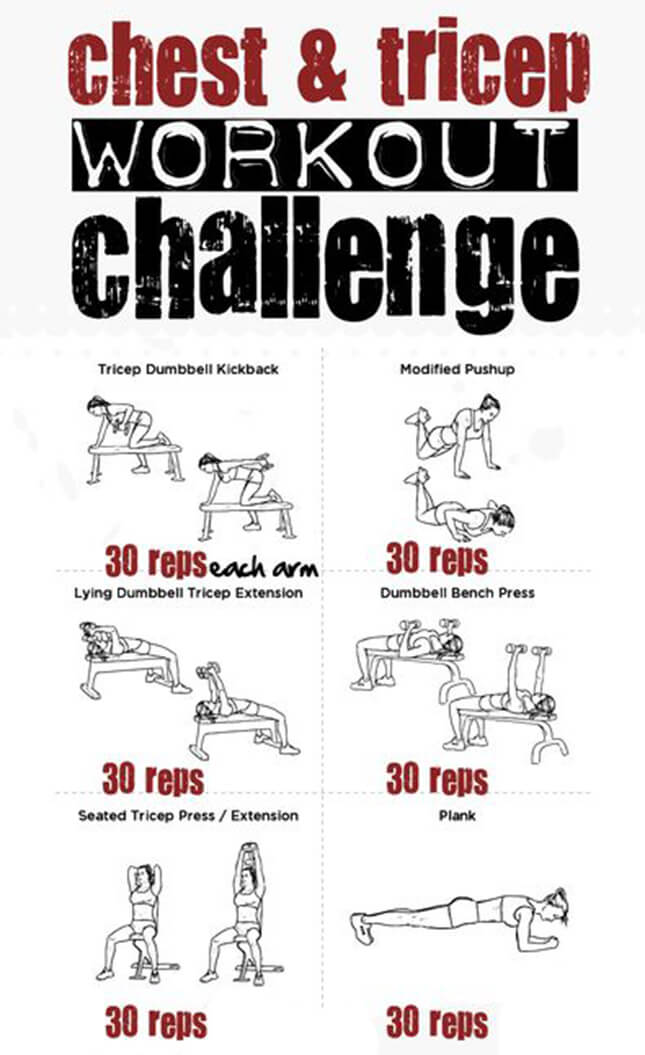 Chest & Tricep Workout Challenge - Push Your Body To The Limit !