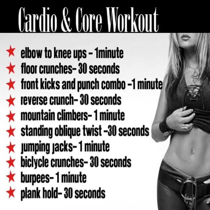 Cardio And Core Workout Plan - Healthy Fitness Training Routines