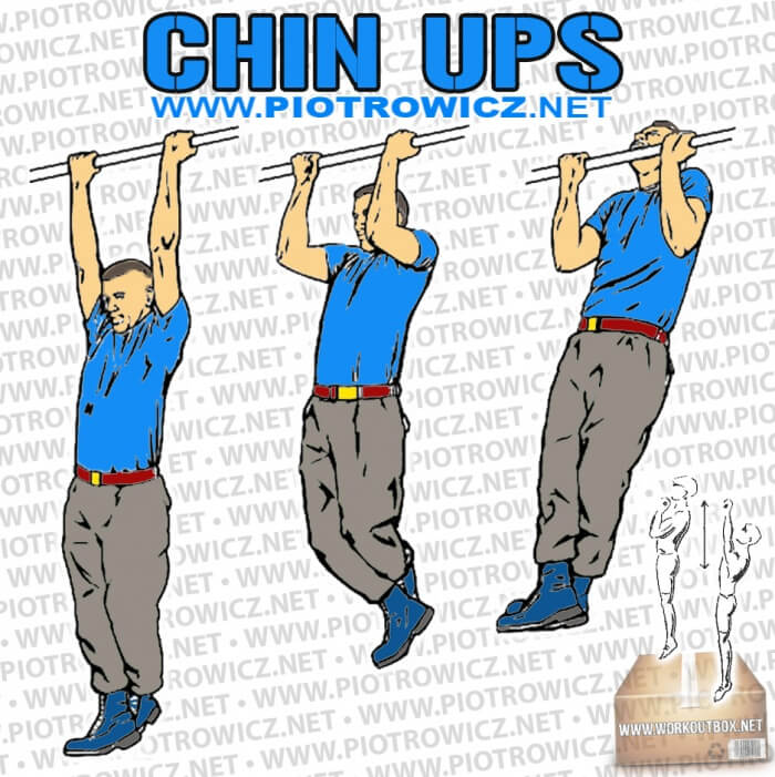 How To Chin Ups - Hardcore Back Arm Exercises Healthy Fitness Ab