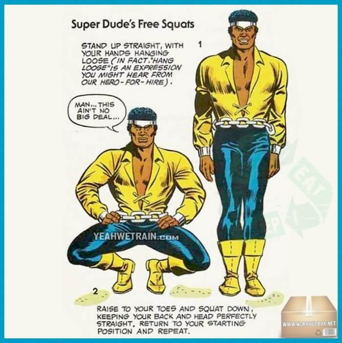 Super Dudes Free Squats - Healthy Fitness Legs Butt Core Workout