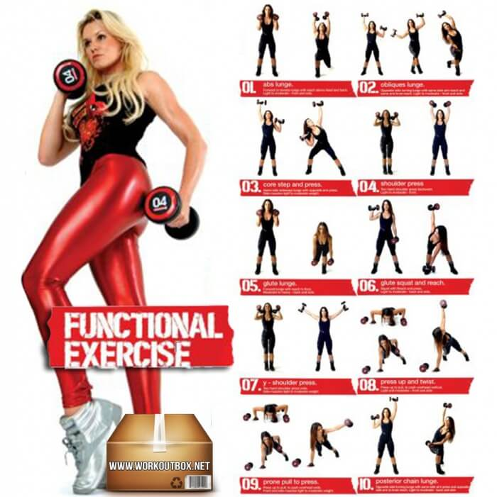 Dumbbell Exercises For Women - Functional Healthy Workout Butt A