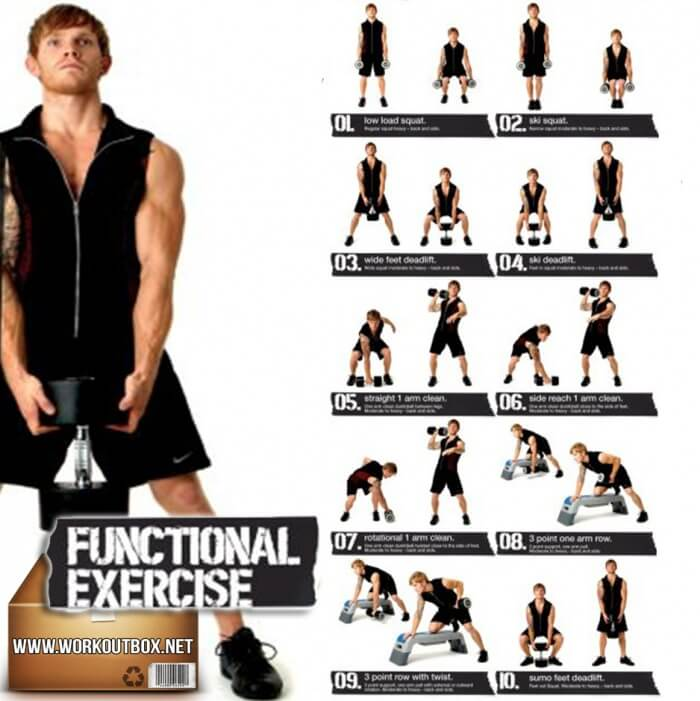 Dumbbell Exercises For Men Functional Healthy Workout Back Arm
