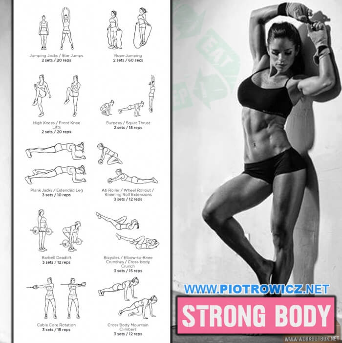 Strong Body Workout - Sexy Female Fitness Training For Exercises