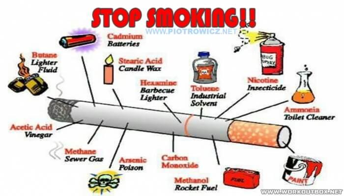 Stop Smoking ! Why Is Smoking So Unhealthy Toluene Nicotine Fuel