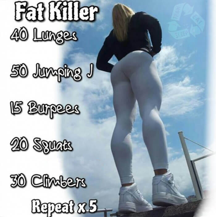 Fat Killer Workout - Fitness HIIT Training Plan For A Fit Body