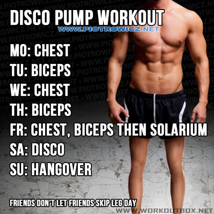 Disco Pump Workout - Chest Biceps Training Plan For Maximum Vol