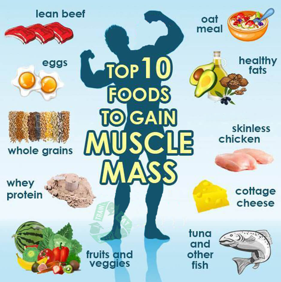 Top 10 Foods To Gain Muscle Mass - Hardcore Fitness Tips Healthy
