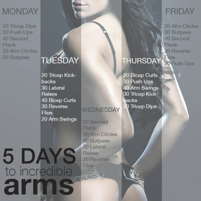 5 Days To Incredible Arms Workout - Healthy Fitness Arm Training