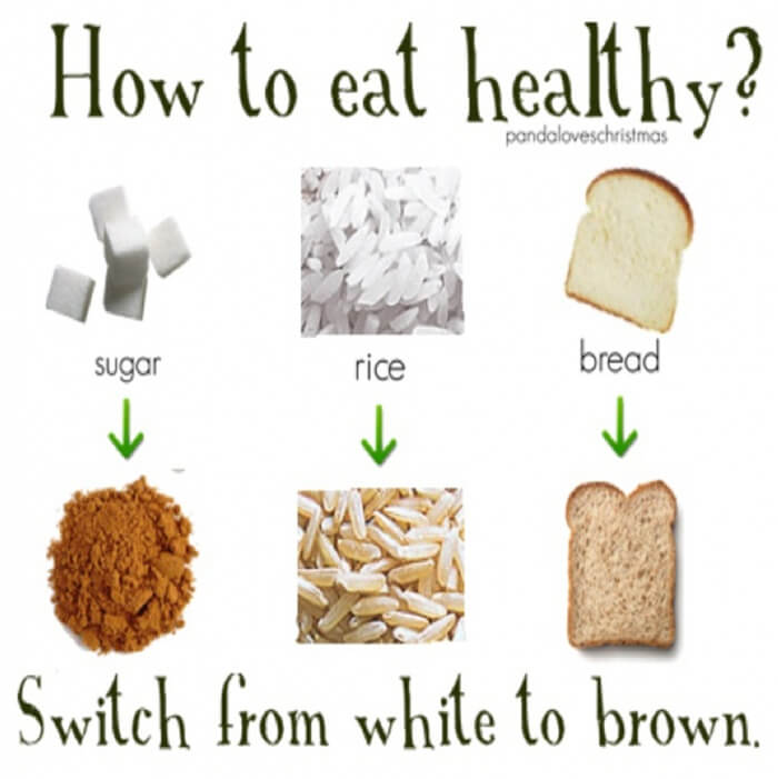 How To Eat Healthy - Switch From White To Brown Fitness Tips Abs
