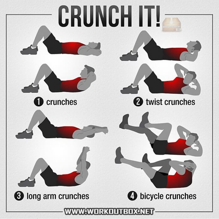 Crunch It ! Healthy Fitness Sixpack Workout Routine Ab Bicycle