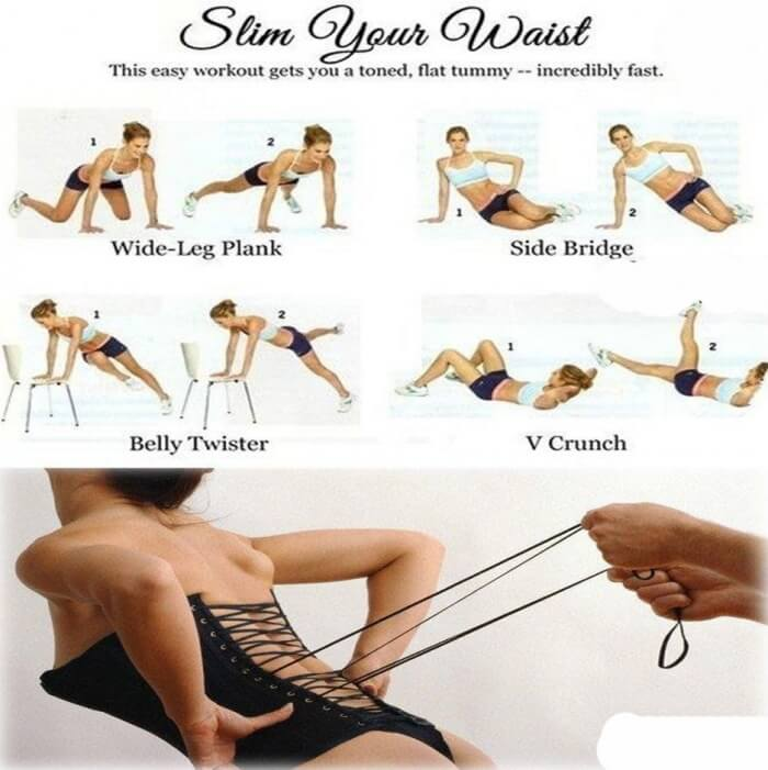 Slim Your Waist - Easy Workout To Get Your Toned And Flat Tummy