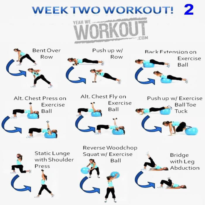 Week Two Workout Plan 2 - Healthy Fitness Full Body Training Abs