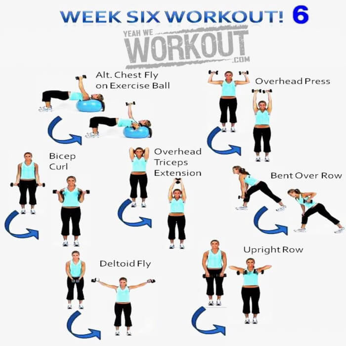 Week Six Workout Plan 6 - Healthy Fitness Full Body Training Abs