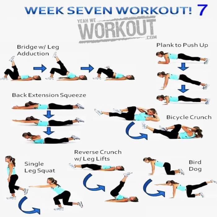 Week Seven Workout Plan 7 - Healthy Fitness Full Body Training