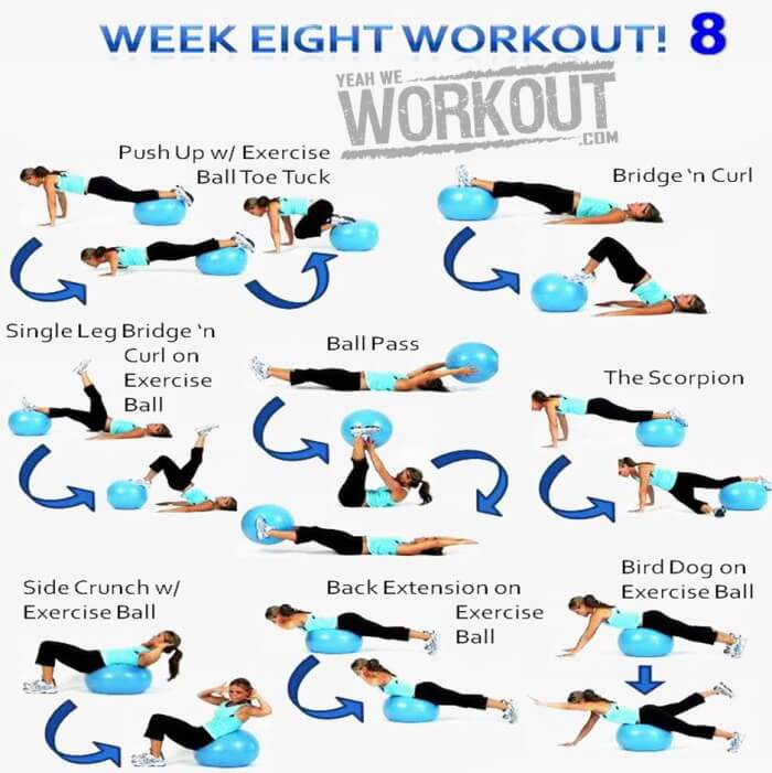 Week Eight Workout Plan 8 - Healthy Fitness Full Body Training