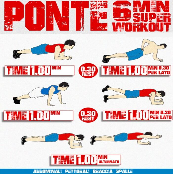 Ponte 6 Min Super Workout - Health Sixpack Hardcore Training Abs