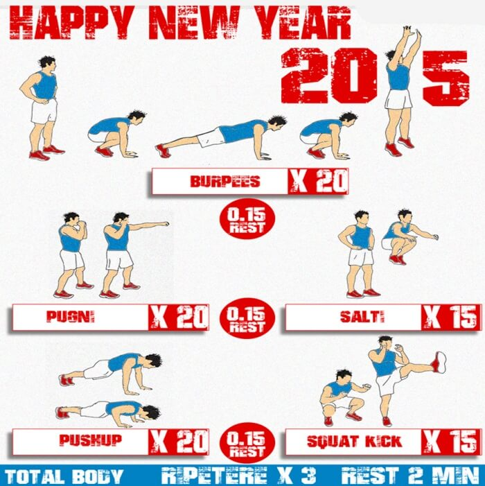 Happy New Year 2015 Workout - Health Training Routine Fit Body