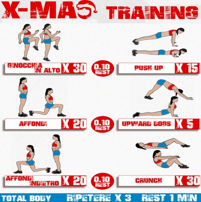 X-Mas Training - Health Workout Routine Fit Body Arms Chest Abs